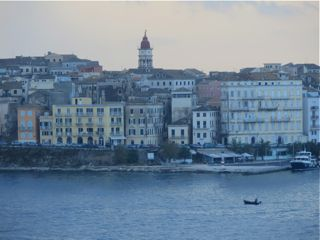 Corfu in the early morning rain.